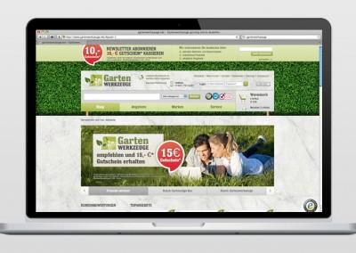 Online-Shop: Gartenwerkzeuge