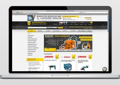 Online-Shop: Neueswerkzeug