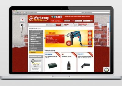 Online-Shop: Werkzeugzentrum