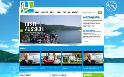 New website for regional project in responsive design