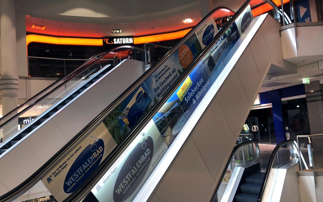 Noch höher hinaus: Rolltreppenwerbung und mehr fürs Westfalenbad