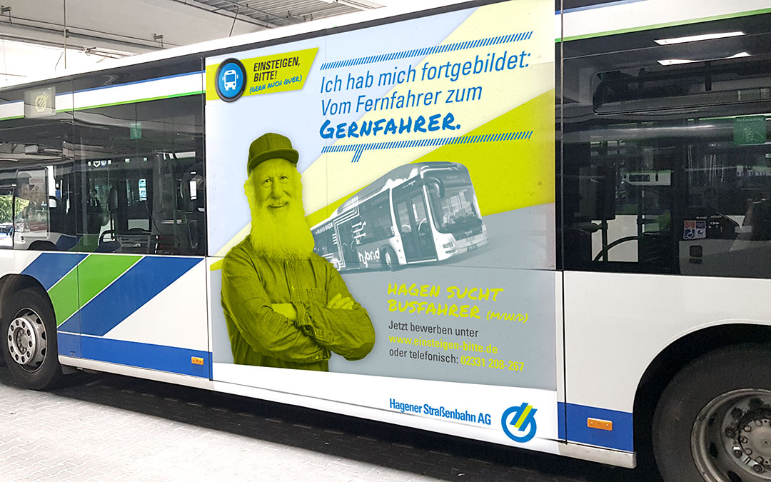 P.AD. moves Hagen: Bus driver campaign for HVG